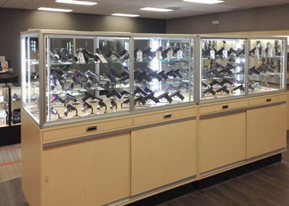 custom gun display cases