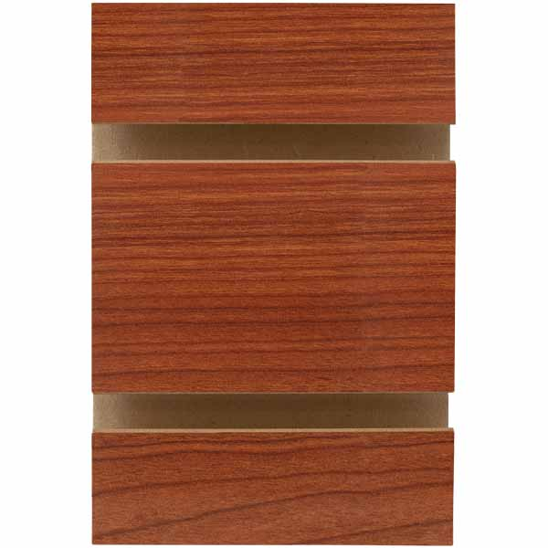 4 H x 8 W Feet Horizontal Slatwall Panels in Cherry with Metal Inserts