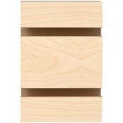 """Slatwall melamine 4' x 8' 3""""OC grooved for inserts - Maple"""