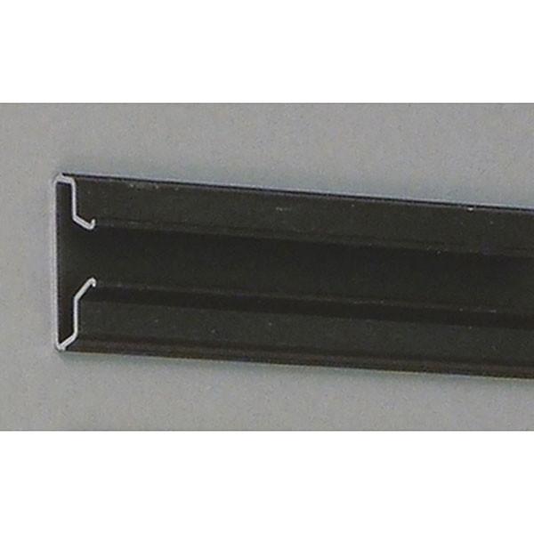 "Aluminum slatwall insert 96"" long - black anodized"