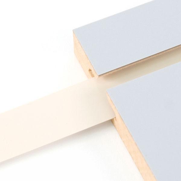 "Vinyl slatwall insert - almond - .010 thick x 1"" wide x 130' long"