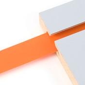 "Vinyl slatwall insert - orange - .010 thick x 1"" wide x 130' long"