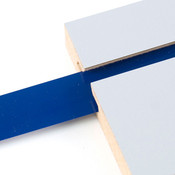 "Vinyl slatwall insert - blue - .010 thick x 1"" wide x 130' long"