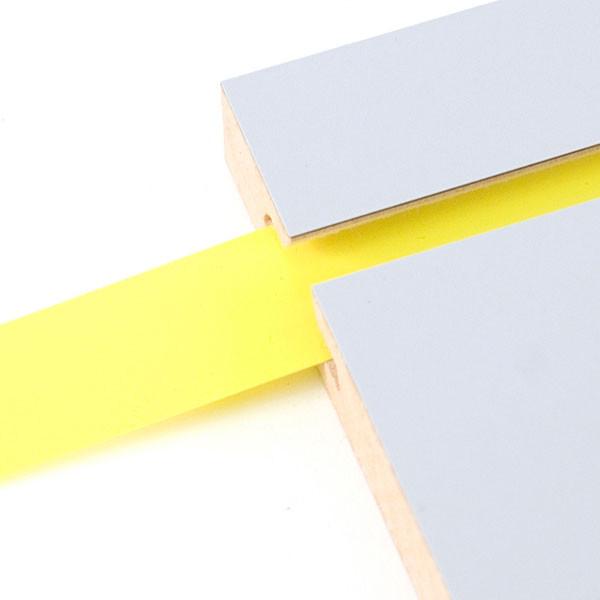"Vinyl slatwall insert - yellow - .010 thick x 1"" wide x 130' long"