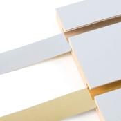 """Vinyl slatwall insert - 2-sided Chrome/Gold 1"""" wide"""