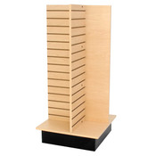 "Slatwall 4-way unit 24"" square x 53"" high - maple"