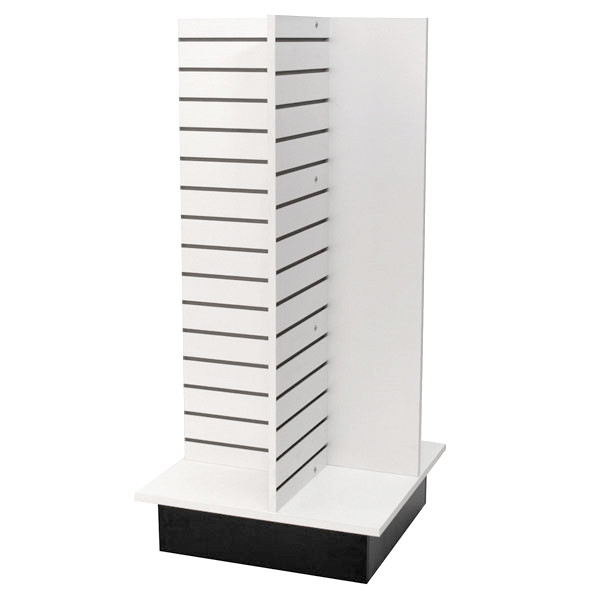 "Slatwall 4-way unit 24"" square x 53"" high - white"