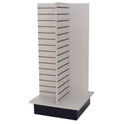 "Slatwall 4-way unit 24"" square x 53"" high - gray"