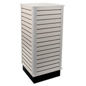 "Slatwall cube with base 24""x24""x54"" high - white"