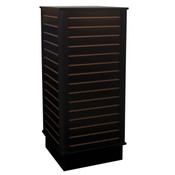 "Slatwall cube with base 24""x24""x54"" high - black"