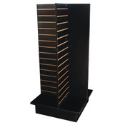 "Slatwall 4-way unit 24"" square x 53"" high - black"