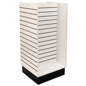 "Slatwall H-unit 24""x24""x54"" high - white"