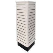"Slatwall triangle unit 24"" wide x 54"" high - white"