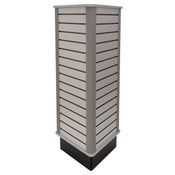 "Slatwall triangle unit 24"" wide x 54"" high - gray"