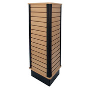 "Slatwall triangle unit 24"" wide x 54"" high - maple"