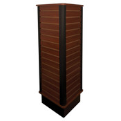 "Slatwall triangle unit 24"" wide x 54"" high - cherry"