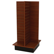 "Slatwall 4-way unit 24"" square x 53"" high - cherry"