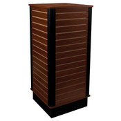 "Slatwall cube with base 24""x24""x54"" high - cherry"