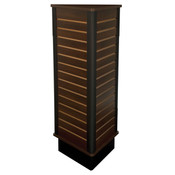 "Slatwall triangle unit 24"" wide x 54"" high - chocolate cherry"