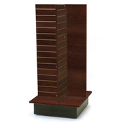 "Slatwall 4-way unit 24"" square x 53"" high - chocolate cherry"