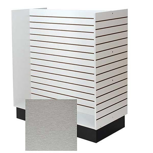 Slatwall H-unit 48 inches wide - Brushed Aluminum