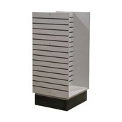 Slatwall H-unit 24 inches wide - Brushed Aluminum