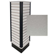 Slatwall Triangle Unit Brushed Aluminum