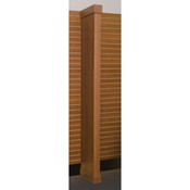 Boxed wing wall - cherry with slatwall hangrail bracket