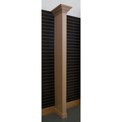 Crown molding wing wall - maple with slatwall bracket
