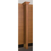 Crown molding wing wall - cherry with slatwall bracket