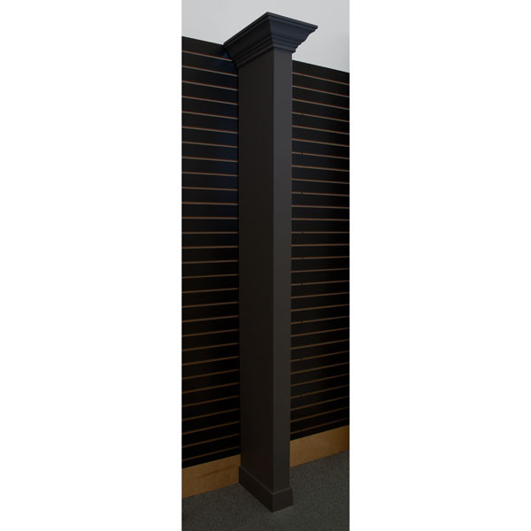 Crown molding wing wall - black with slatwall bracket