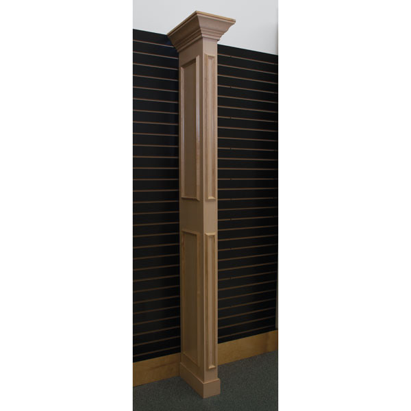 Library wing wall - maple with slatwall bracket