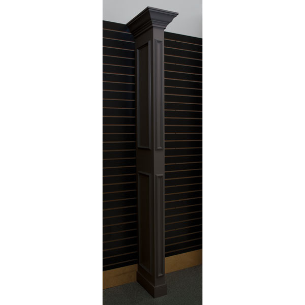 Library wing wall - black with slatwall bracket