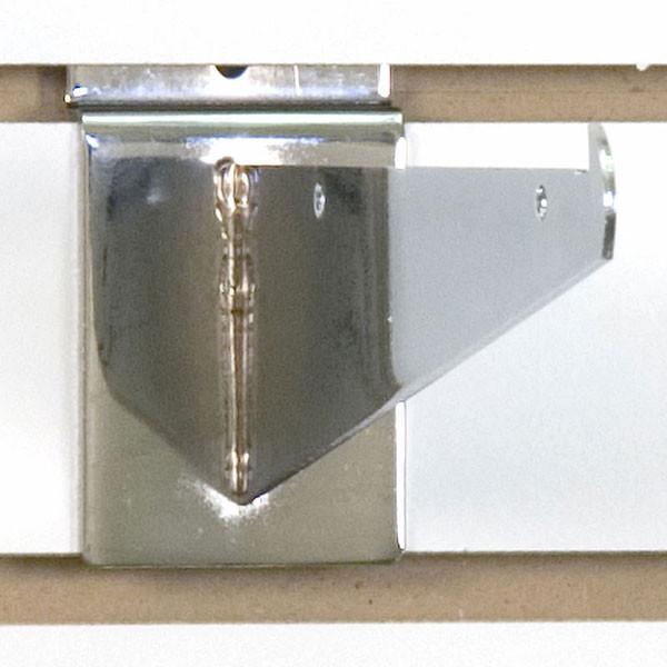 "Slatwall 8"" shelf bracket-chrome"