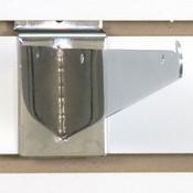 "Slatwall 10"" shelf bracket-chrome"