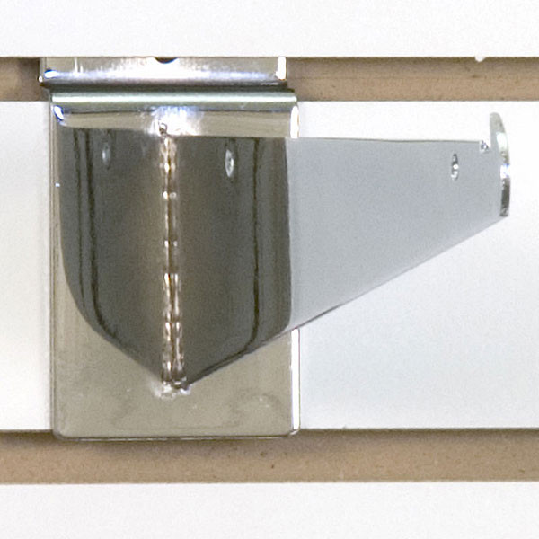 "Slatwall 10"" shelf bracket-chrome"