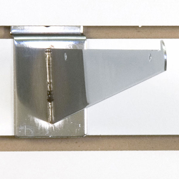 Slatwall Shelf Bracket12 Chrome
