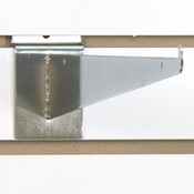 "Slatwall 14"" shelf bracket-chrome"