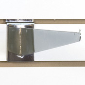 "Slatwall 16"" shelf bracket-chrome"