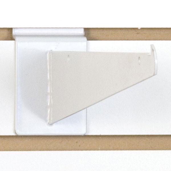 """Slatwall 10"""" shelf bracket-white"""