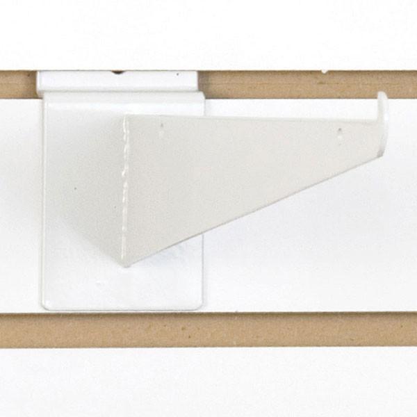 """Slatwall 12"""" shelf bracket-white"""