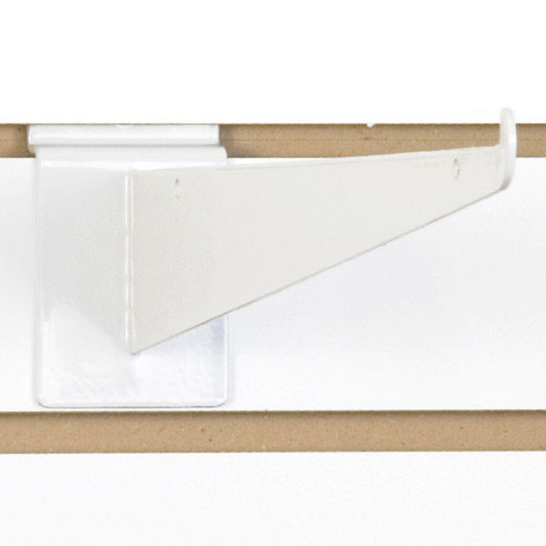 "Slatwall 14"" shelf bracket-white"