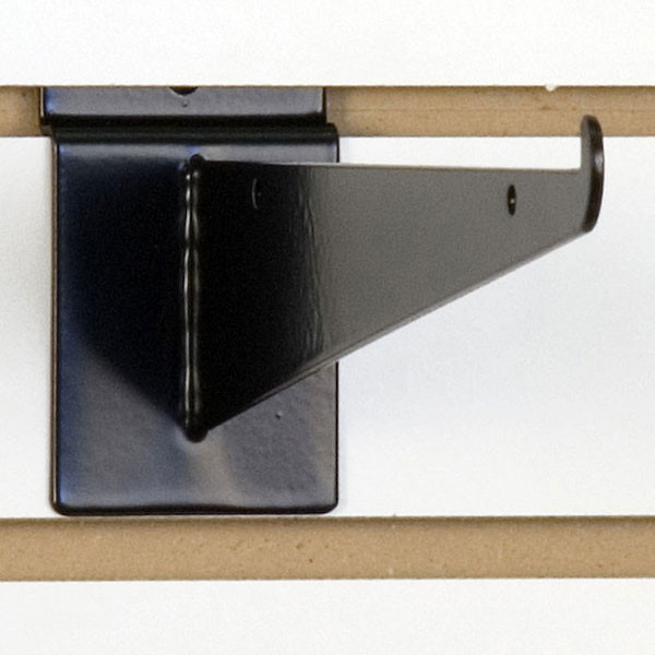 "Slatwall 10"" shelf bracket-black"