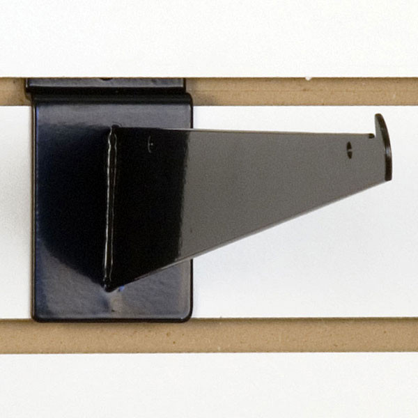 "Slatwall 12"" shelf bracket-black"