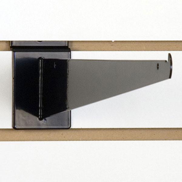 "Slatwall 16"" shelf bracket-black"