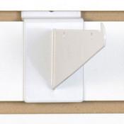 """Slatwall 6"""" shelf bracket-white"""