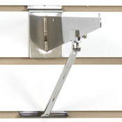 Slatwall bracket support-chrome for 10 -12 inch brackets