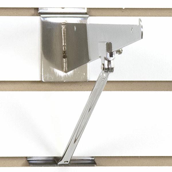 Slatwall bracket support-chrome for 10 -12 inch brackets