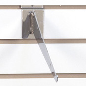 Adjustable slatwall shelf bracket 10 inch-chrome