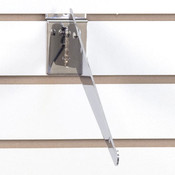 Adjustable slatwall shelf bracket 12inch-chrome